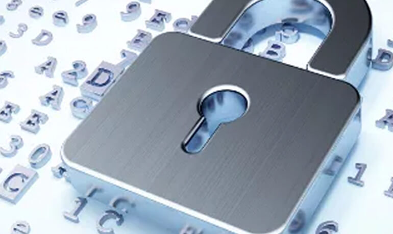 Silver padlock - thats right bookkeeping